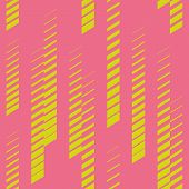 Abstract Geometric Seamless Pattern With Vertical Fading Lines, Tracks, Halftone Stripes. Trendy Vec poster