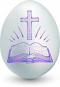 Постер, плакат: Яйцо пасхальное исследование Библии