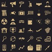 Academic Icons Set. Simple Set Of 36 Academic Vector Icons For Web For Any Design poster