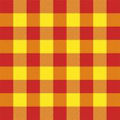 Tartan Plaid. Scottish Pattern In Red And Yellow Cage. Scottish Cage. Traditional Scottish Checkered poster