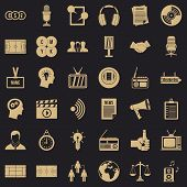 Multimedia Means Icons Set. Simple Set Of 36 Multimedia Means Vector Icons For Web For Any Design poster