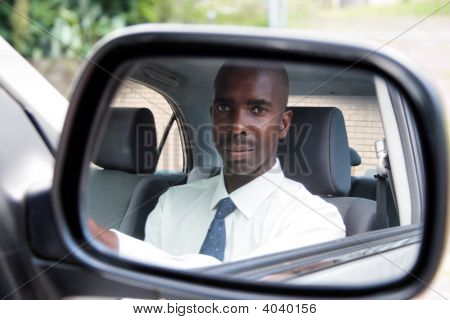 African Businessman Driver