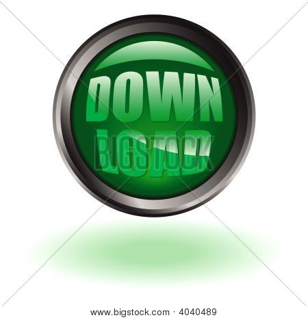 Download Button Round P