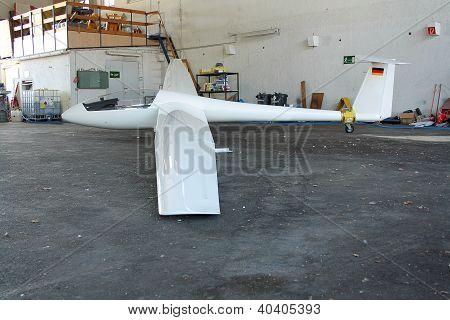White Glider Hangar