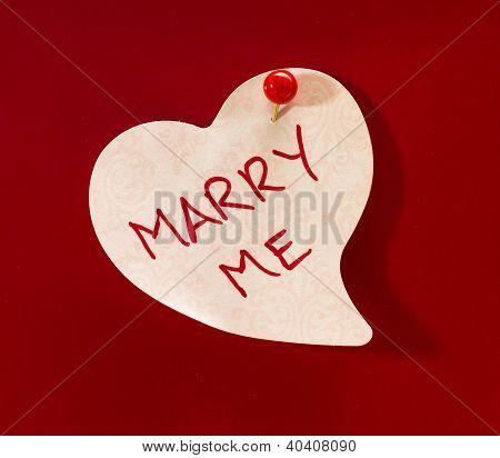 Marry Me Heart Memo