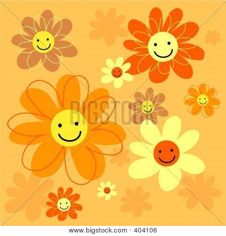 Happy Flowers Tile