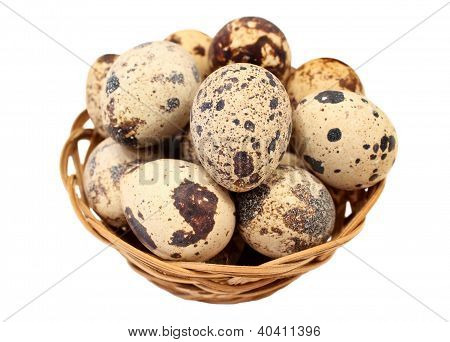 Quail Eggs In A Basket