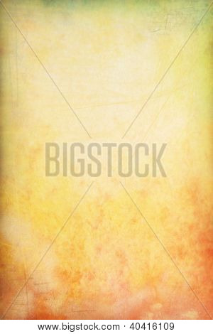 Grain Yellow / Brown / Green Paint Wall Background Or Vintage Texture