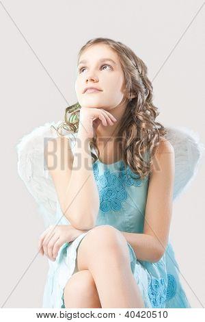 Serious Angel Girl