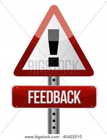 Feedback Word On Road Sign
