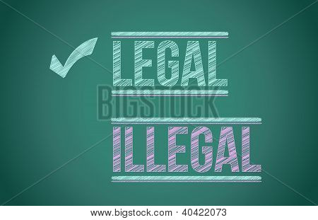 Legal vs. Illegal