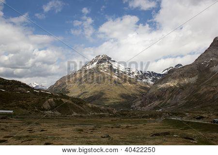 The Bernina Pass (el. 2328 M.) Swiss Alps