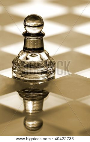 Pawn Chess Piece -  Business Concept Series - Strategy, Small Business, Competition, Growth.