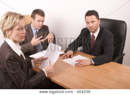 Business Meeting Of 3 Persons