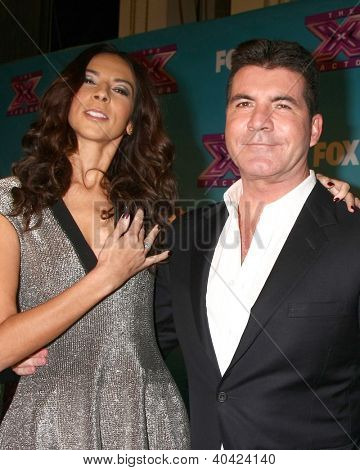 LOS ANGELES - DEC 20:  Terri Seymour, Simon Cowell at the 'X Factor' Season Finale at CBS Television City on December 20, 2012 in Los Angeles, CA