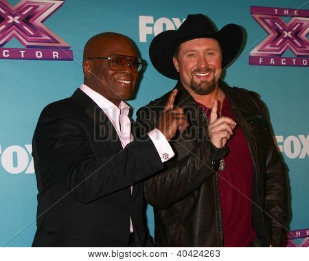 LOS ANGELES - DEC 20:  LA Reid, Tate Stevens - Winner of 2012 X Factor at the 'X Factor' Season Finale at CBS Television City on December 20, 2012 in Los Angeles, CA