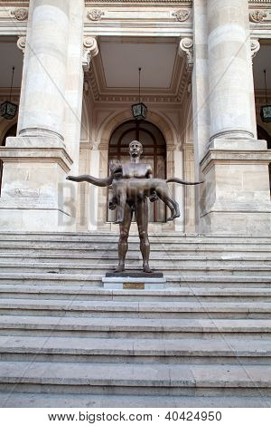 Naked Statue Of Emperor Trajan, Bucharest, Romania
