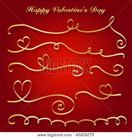 Heart love card, Valentine day, background with ribbon, EPS10 vector illustration