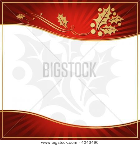 Exotic Red Holly Adorned Gift Tag