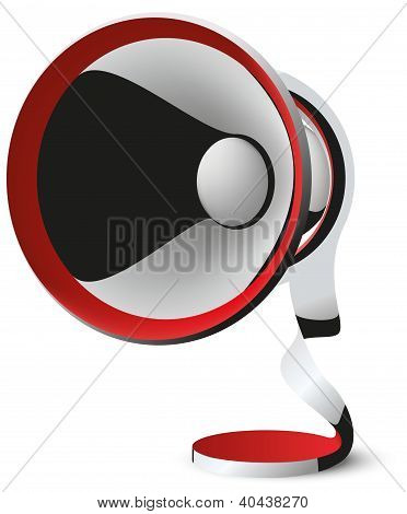 megaphone vector abstraction