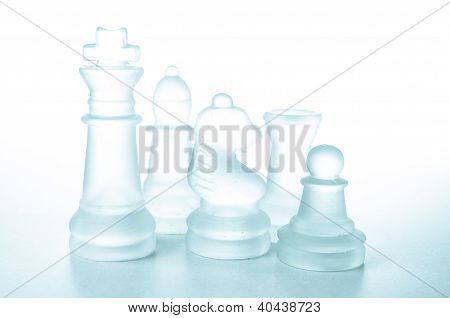 Some Glass Chess Pieces