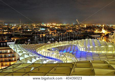 Sevilla,spain -september 27: Metropol Parasol In Plaza De La Encarnacion On September 27, 2012 In Se
