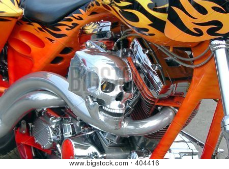 Skull Bike Close Up