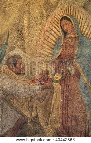 Apparition Virgin Mary To Juan Diego
