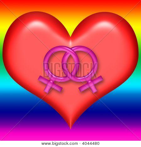 Lesbian Valentine Heart