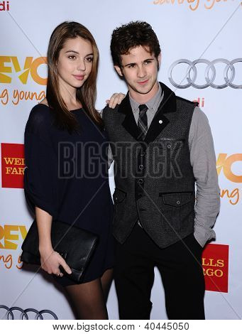LOS ANGELES - DEC 02:  Connor Paolo & Date arrives to Trevor Project Honors Katy Perry  on December 02, 2012 in Hollywood, CA