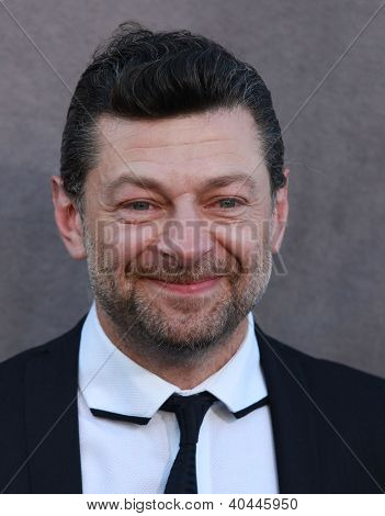LOS ANGELES - JAN 12:  ANDY SERKIS arriving to Critic's Choice Movie Awards 2012  on January 12, 2012 in Hollywood, CA