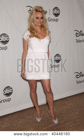 LOS ANGELES - JUL 27:  Pamela Anderson ABC All Star Summer TCA Party 2012  on July 27, 2012 in Beverly Hills, CA