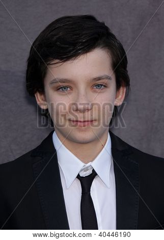 LOS ANGELES - JAN 12:  ASA BUTTERFIELD arriving to Critic's Choice Movie Awards 2012  on January 12, 2012 in Hollywood, CA
