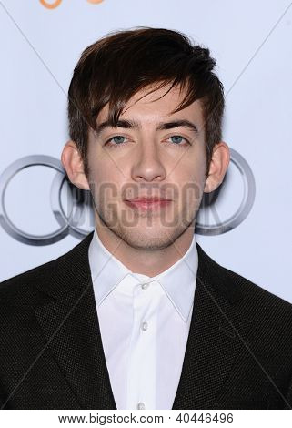 LOS ANGELES - DEC 02:  Kevin McHale arrives to Trevor Project Honors Katy Perry  on December 02, 2012 in Hollywood, CA