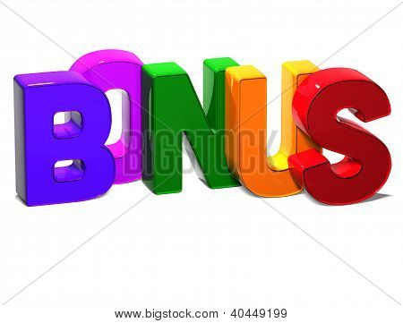 3D Word Bonus On White Background