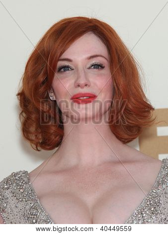 LOS ANGELES - AUG 11:  CHRISTINE HENDRICKS arriving to Emmy Awards 2011  on August 11, 2012 in Los Angeles, CA
