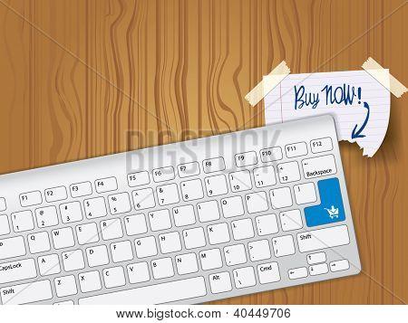 Comprar ahora - teclado clave azul