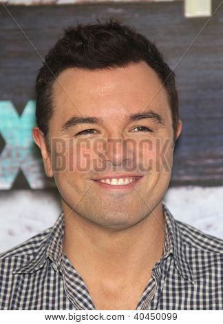 LOS ANGELES - JUL 23:  Seth MacFarlane arriving to FOX All-Star Party 2012  on July 23, 2012 in West Hollywood, CA