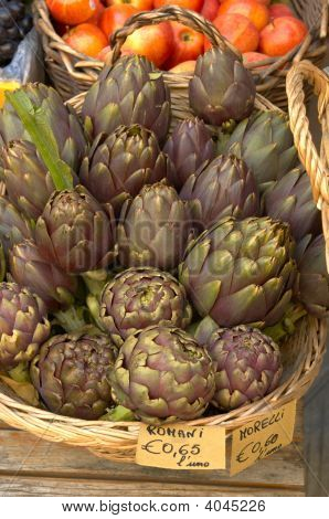 Artichokes And Tomatoes, Italy