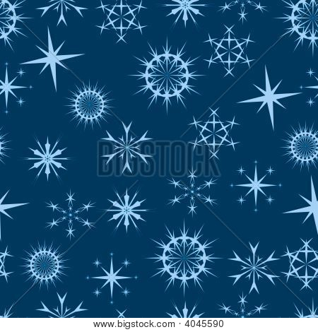 Seamless Blue Stars