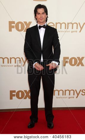LOS ANGELES - AUG 11:  Ian Somerhalder arriving to Emmy Awards 2011  on August 11, 2012 in Los Angeles, CA
