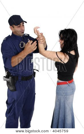 Handcuffing A Ciminal