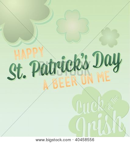 Happy St. Patrick's Day Card Vector