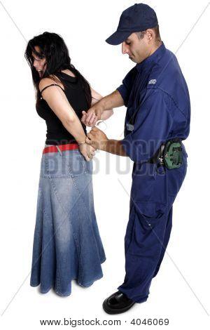Officier waarnemen van een vrouw