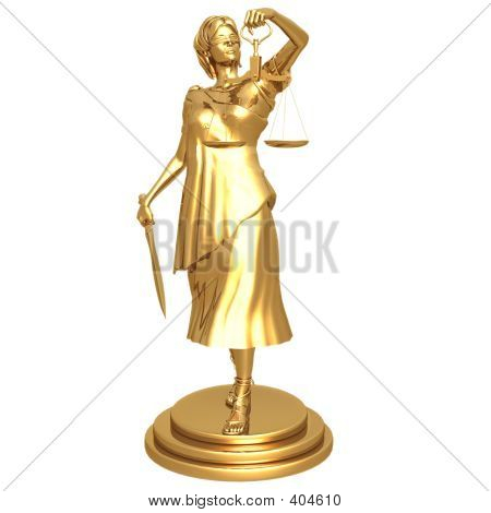 Gilded Lady Justice