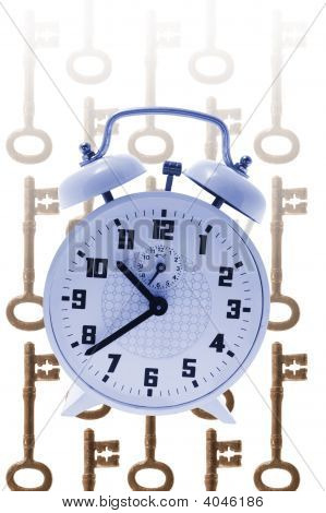 Alarm Clock And Skeleton Keys