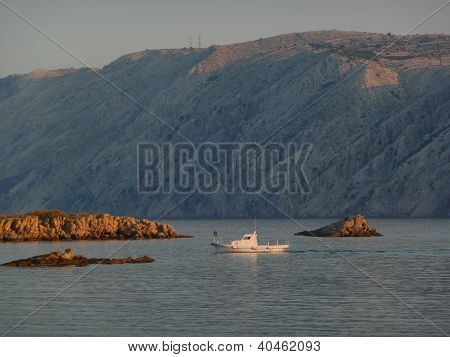 boat in rab island