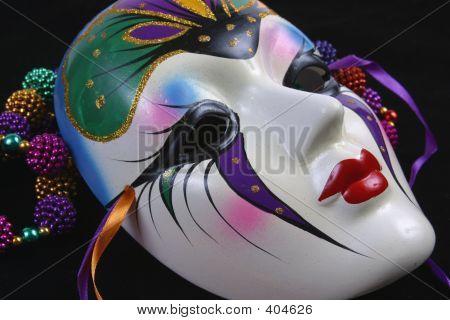 Mardi Gras Maske Sideview