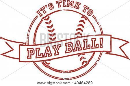 It's Time to Play Baseball Stamp