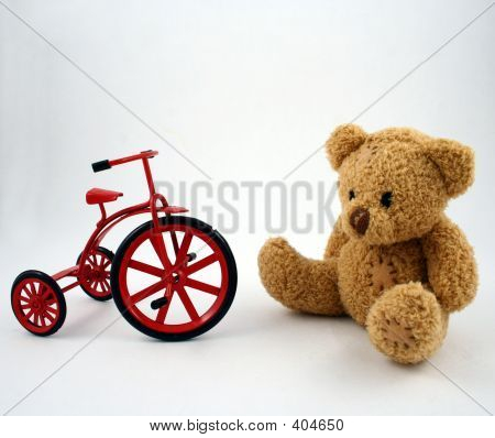 Teddy Bear And Tricycle